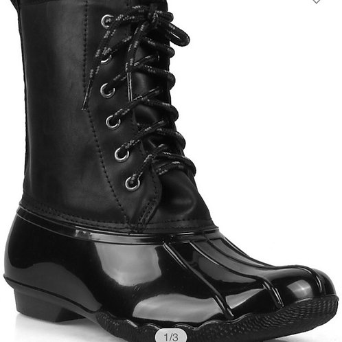 Duck boots -black