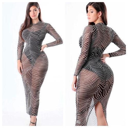 Zebra prints on -dress