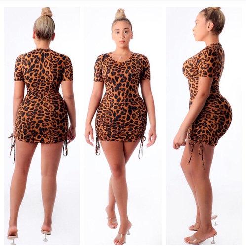 Cheetah print -dress