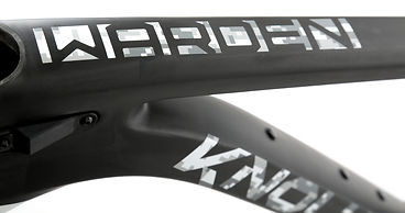 Warden Carbon Snow Cat Top Tube Graphics