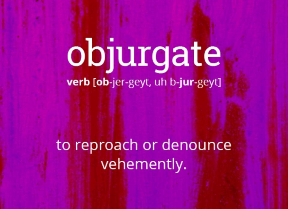 objurgate