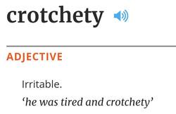 crotchety