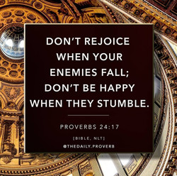 don't rejoice