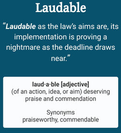 laudable