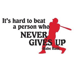 never gives up