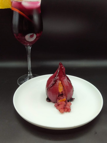 Sangria Poached Pear
