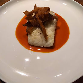 Steamed Fish with Carrot Miso Sauce