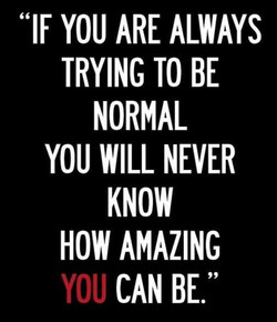 if you are always trying
