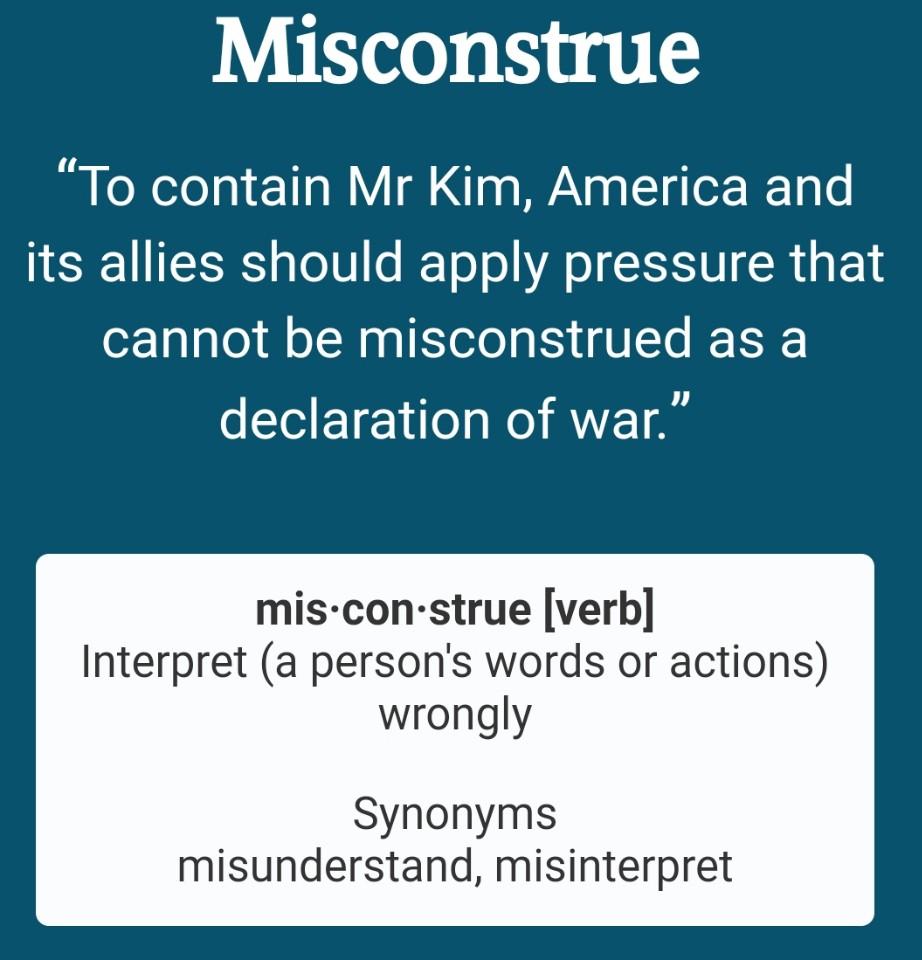 misconstrue