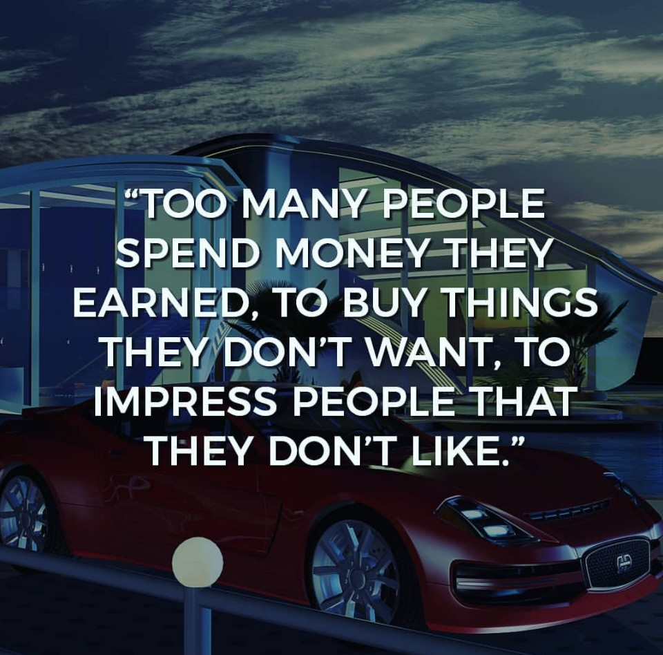 too many people spend