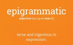epigrammatic
