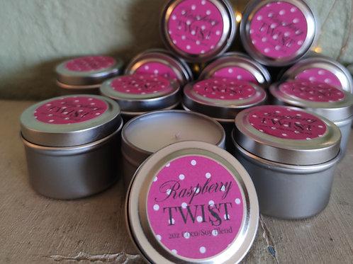 Raspberry Twist Min-Tin Candle