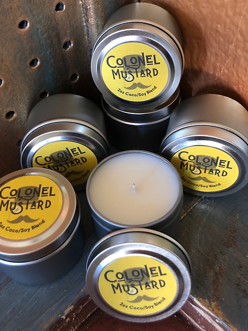Colonel Mustard Min-Tin Candle