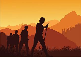 143186-nordic-walking-sunset-silhouette-