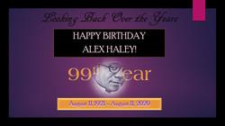 Happy 99th Birthday Alex Haley!Slide1