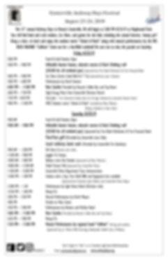 Centerville Archway Days Event Schedule
