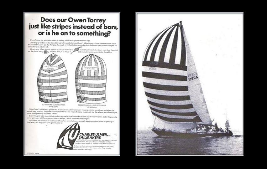 "1971 ad featuring Owen Torrey design and ""La Forza Del Destino."""