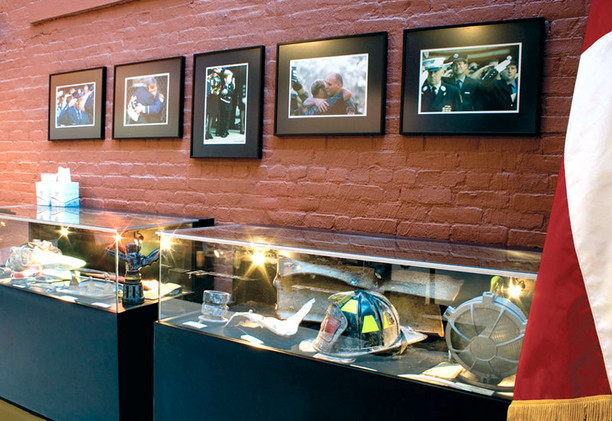 The September 11th memorial room contains objects recovered from the World Trade Center site accompanied by photographs taken that day and in the days following. This room is a permanent testament to the honor and valor displayed by the fallen firefighters and rescue workers.