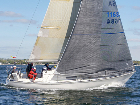 SNOW GOOSE wins the non-spinnaker class in Larchmont Yacht Club's 2019 Edlu race