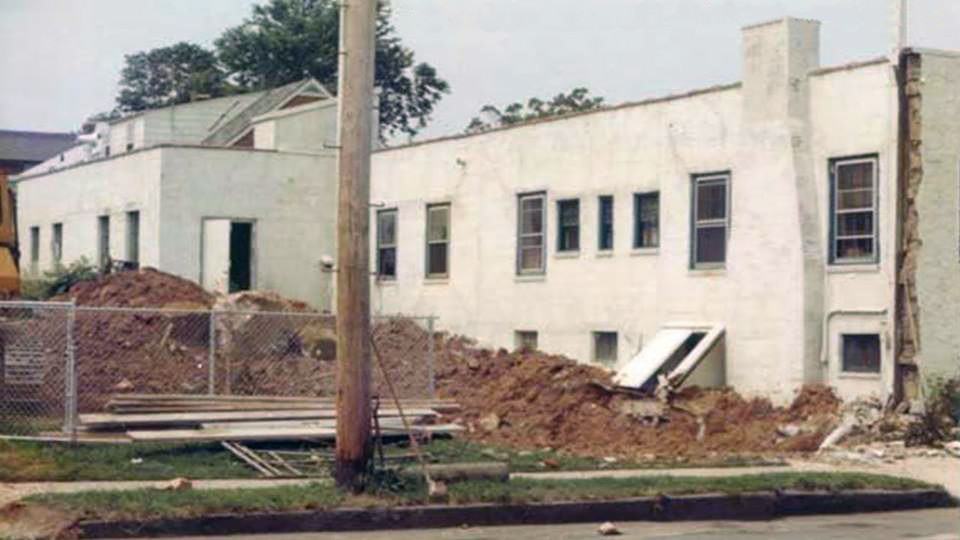 Fall 1973, the new addition undwerway by Hoffman Contractors.