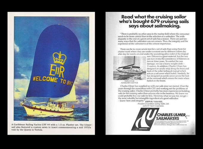 Charles Ulmer Sailmakers ad.