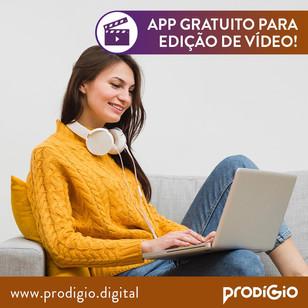 Edição de vídeos para vídeo aulas ou redes sociais gratuita