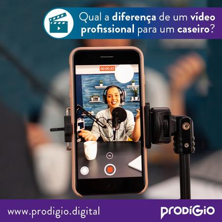 Comparativo: a diferença entre produzir um vídeo caseiro e um vídeo profissional