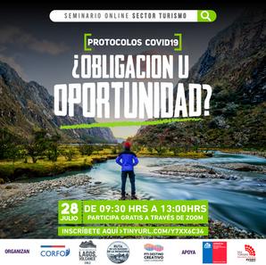 Turismo en Chile: Seminario analizará oportunidades en nuevo escenario post pandemia