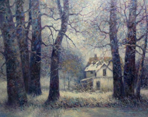 Landscape in Prussian Blue 36x48