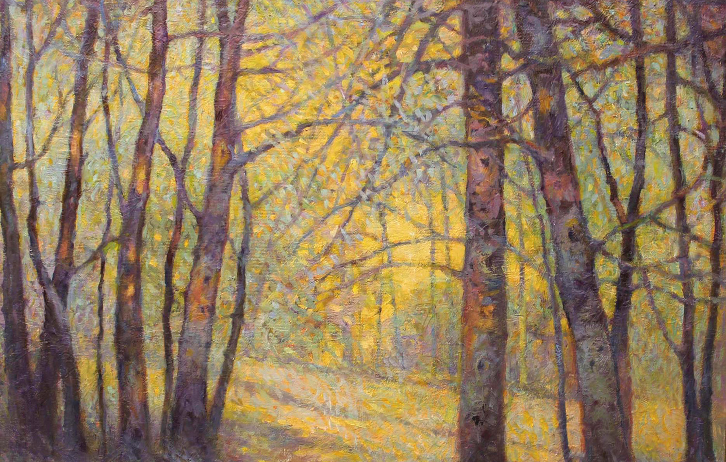 Woods Revisited 16 x 20 oil