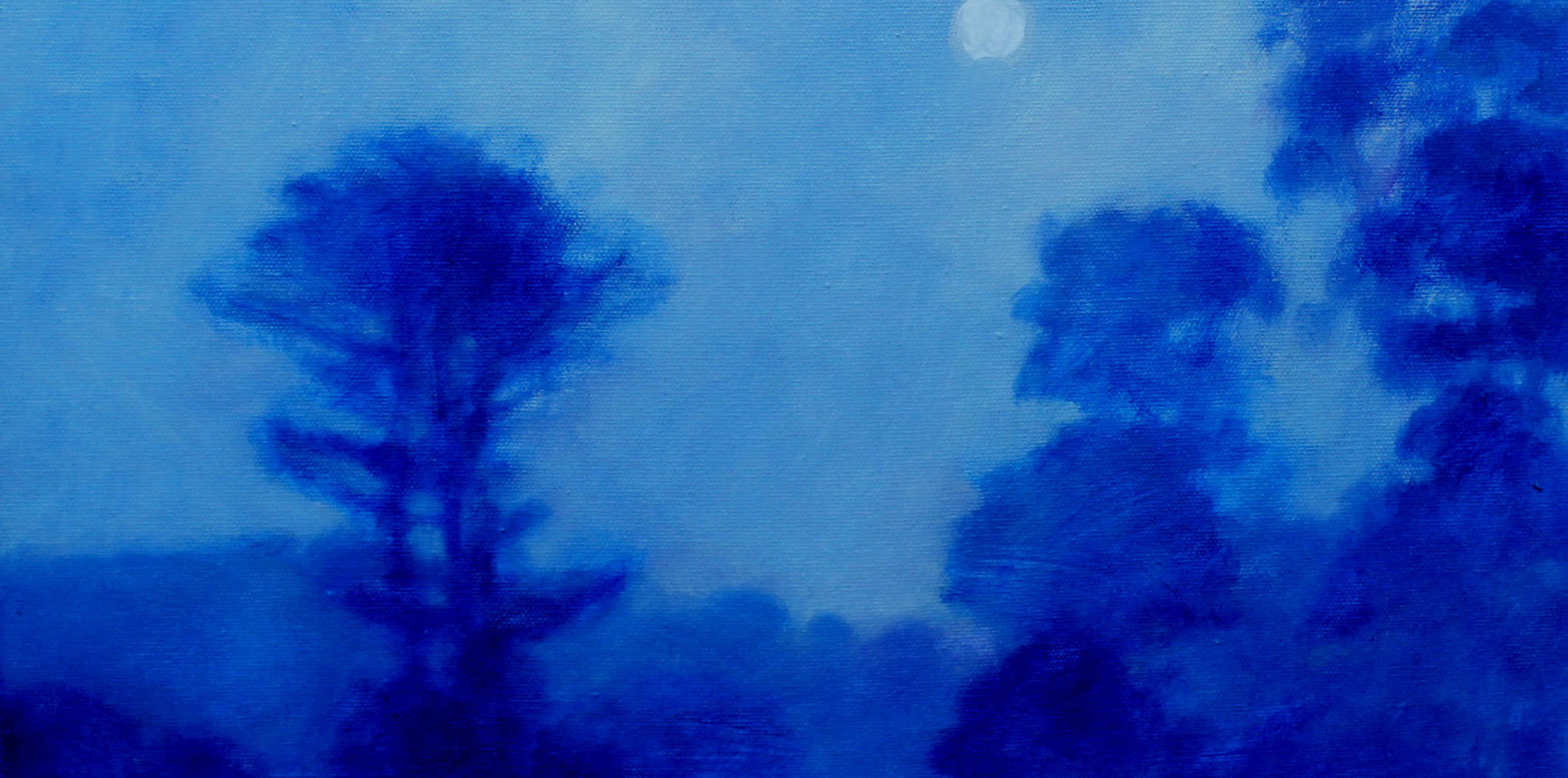 Moonlight on Valley Trail 18x18