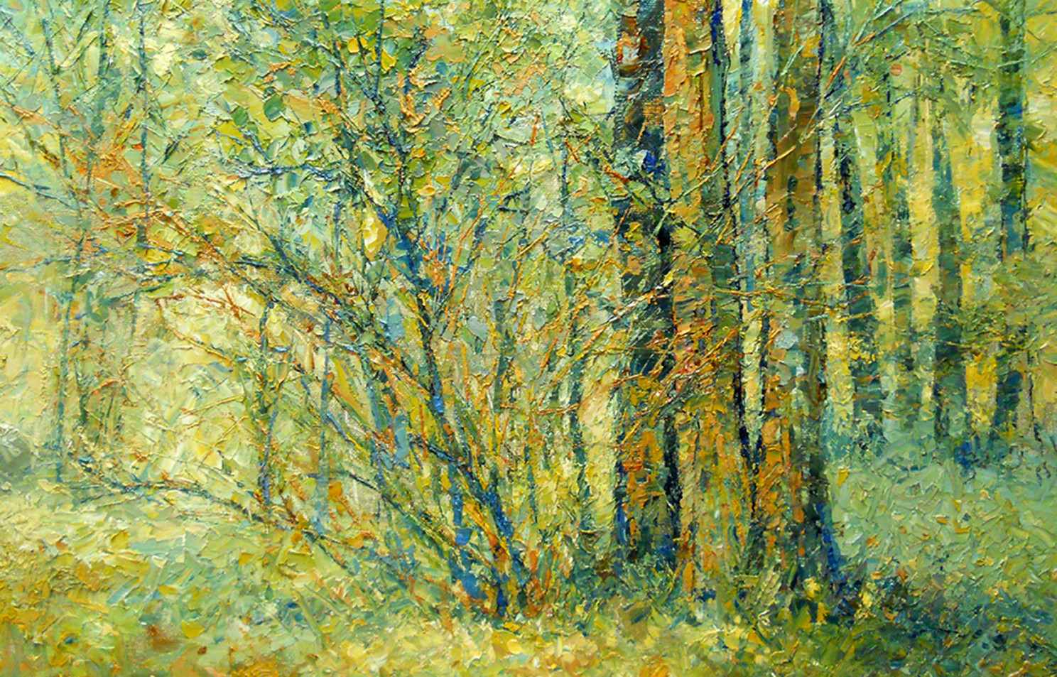 Woodland Shade 20 x 24 oil