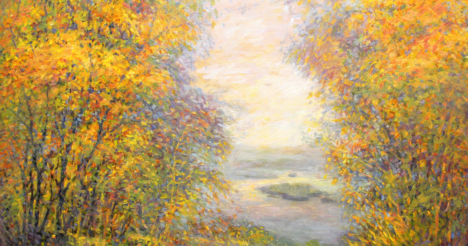 River Vista 24 x 36 oil