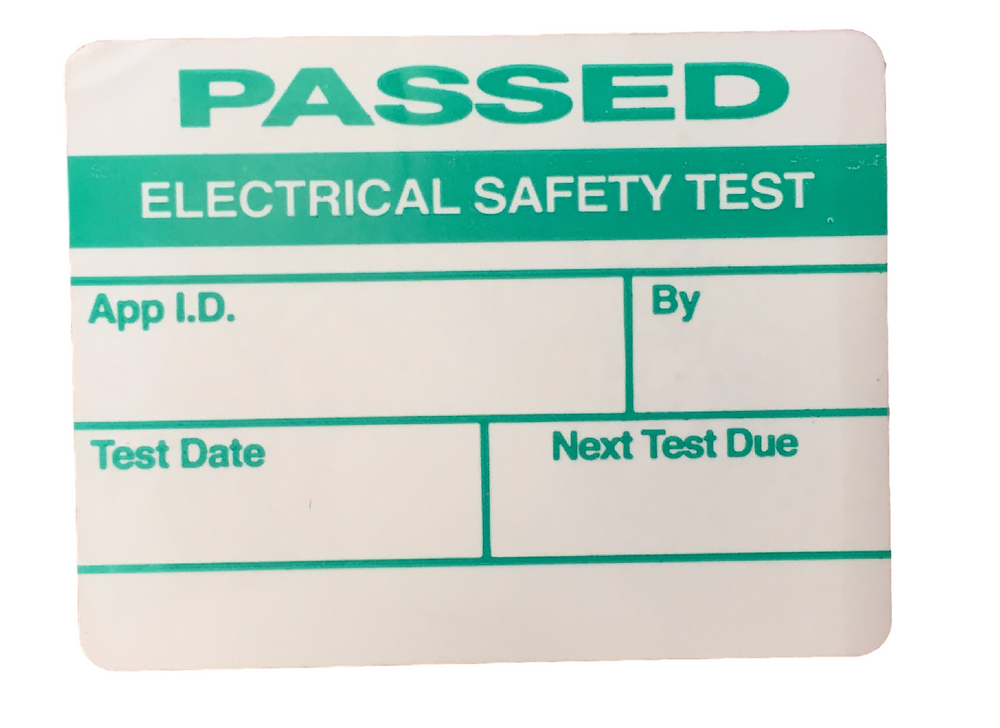 PAT Testing label