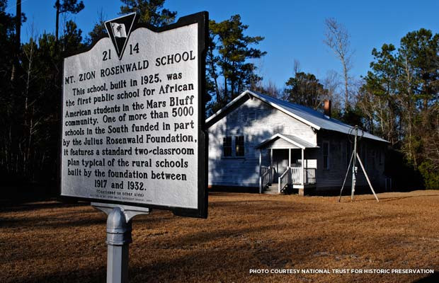 Mt. Zion School near Florence, SC