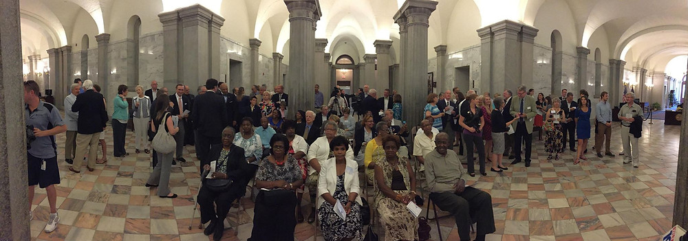 Attendees at the 2015 Historic Preservation Awards ceremony at the State House, Columbia