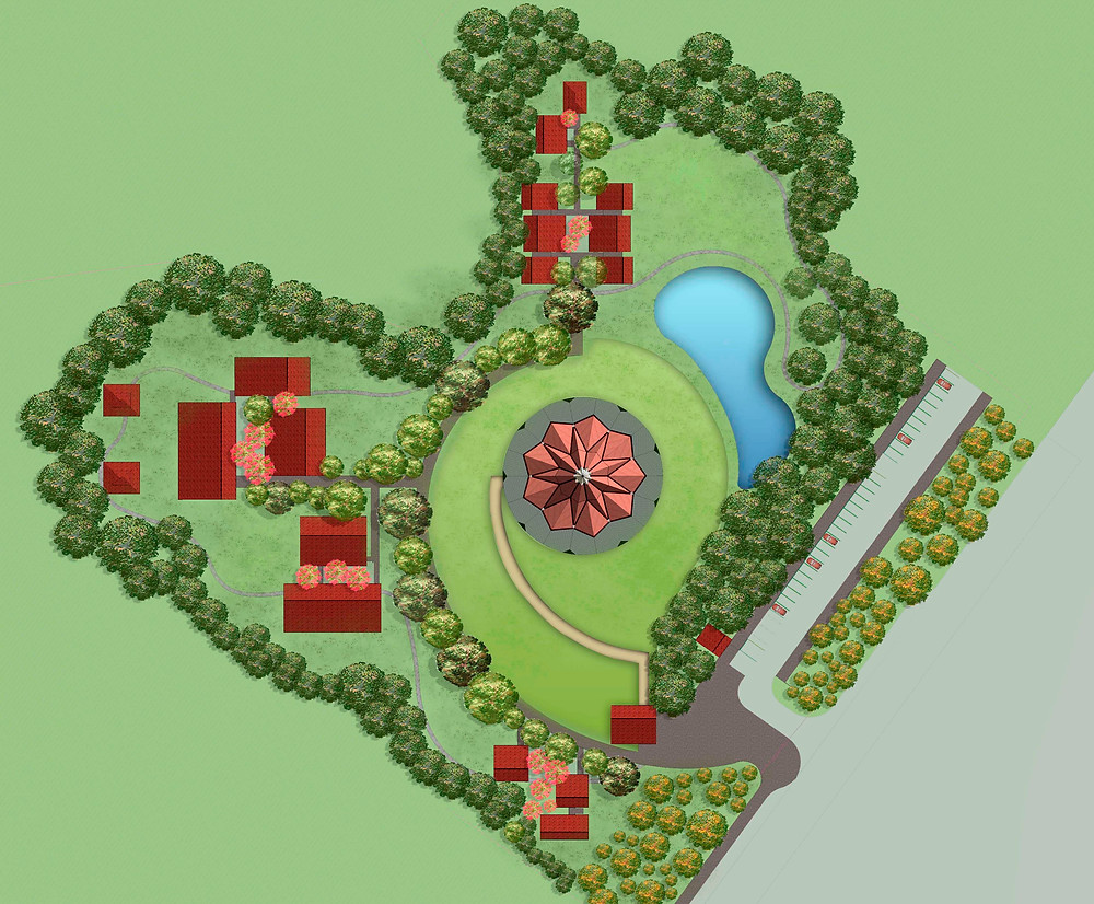 Plan of temple grounds, Agua Azul, Colombia
