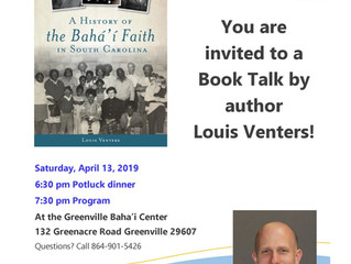 UPCOMING: Book Talk in Greenville, SC