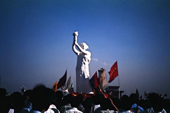 """Goddess of Democracy,"" Tienanmen Square, Beijing, 1989"