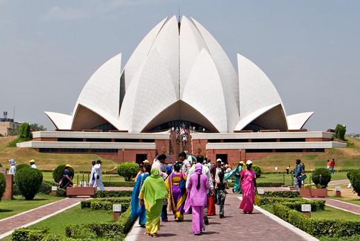 Baha'i house of worship, New Delhi, India
