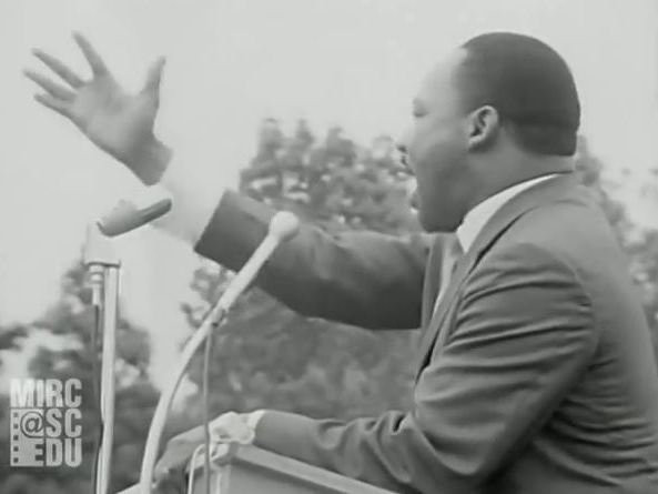 Dr. Martin Luther King, Jr. speaking in Kingstree, SC, 1966