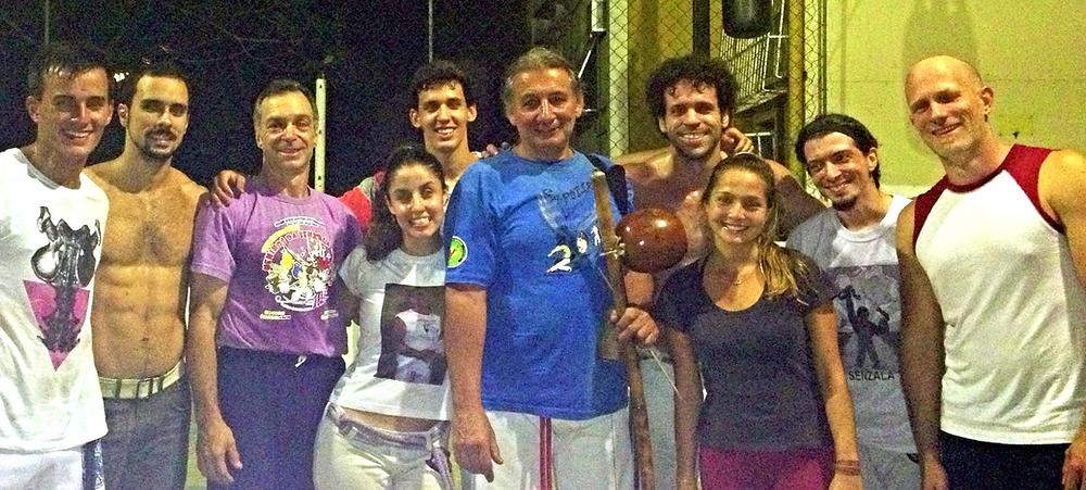 Class with Mestre Itamar, Rio de Janeiro, 2013