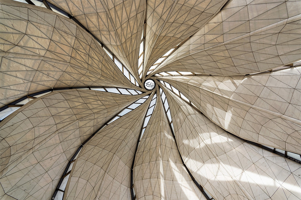 Interior view of the dome, Baha'i House of Worship, Santiago, Chile