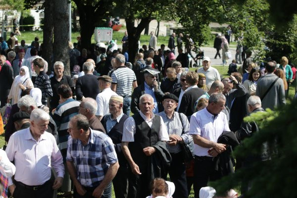 Attendees at the Ferhadija dedication ceremony, May 7, 2016
