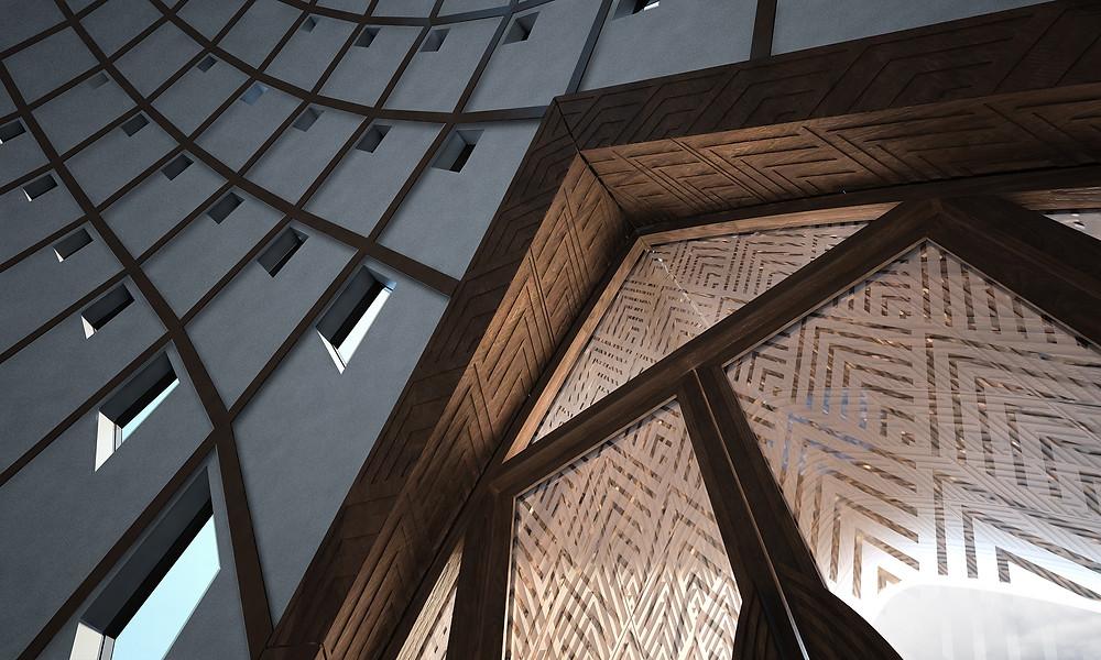 Papua New Guinea House of Worship, interior design