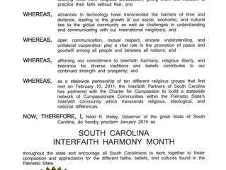 UPCOMING: Interfaith Partners of SC at Florence Library