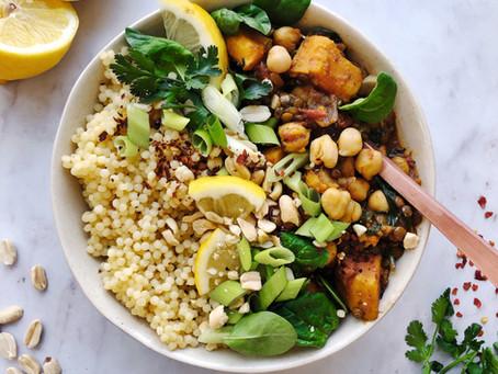 One pot lentilles vertes & patate douce