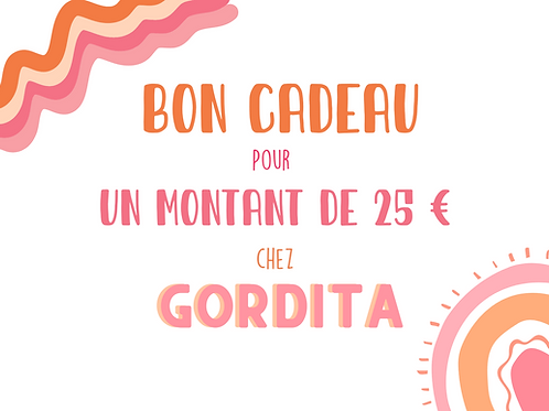 Bon cadeau Gordita 25€
