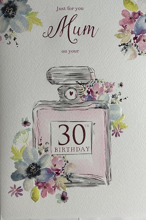 Mum's 30th Birthday Card