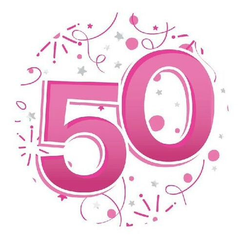 Age 50 Female Party Badge (15cm)